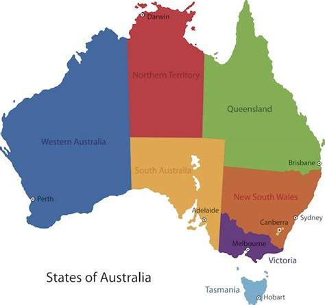 australia tourism bureau geography of australia by state or territory