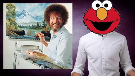 The Elmo Is Bob Ross Meme Original