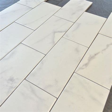 carrara porcelain tile classic marble carrara 3 quot x 6 quot subway tile matte finish high definition porcelain 3 59 per