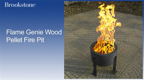 flame genie wood pellet fire pit youtube