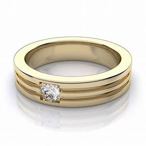 52mm men39s round diamond wedding ring in 18k yellow gold With man s wedding ring with diamonds