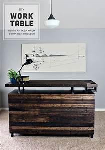 DIY Work Table / MALM Dresser Hack Gray House Studio