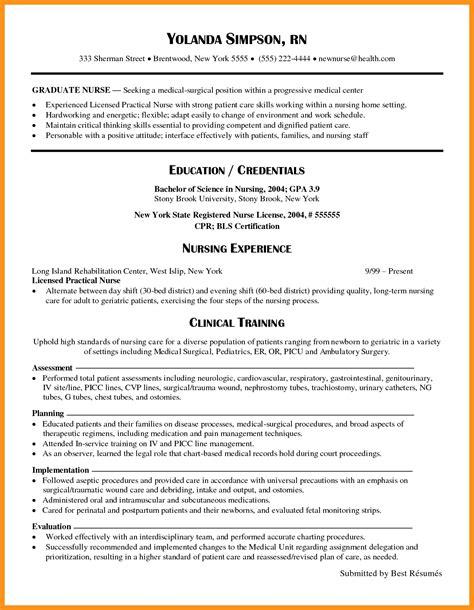rn resume samples  grad southbeachcafesfcom