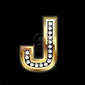 letter j black black gold black white gold With gold letter j