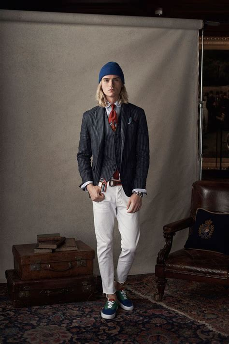 polo ralph lauren spring  menswear fashion show collection   complete polo ralph