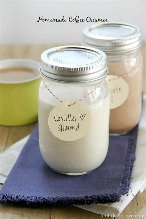 Combine sweetened condensed milk, skim milk, and vanilla extract in an airtight container and shake well to blend. Homemade Coffee Creamer: Vanilla Almond and Chocolate - Eat. Drink. Love.