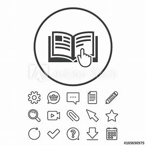 U0026quot Instruction Sign Icon  Manual Book Symbol  U0026quot  Stock Image
