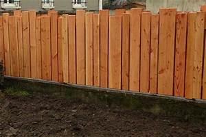 Faire Une Cloture En Bois : palissade en pin douglas couleur jardin ~ Dallasstarsshop.com Idées de Décoration