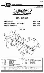 New Fisher Minute Mount 1  U0026 2 Plow Frame Mounts