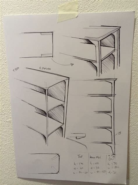 sketches  time   shelving unit sketch