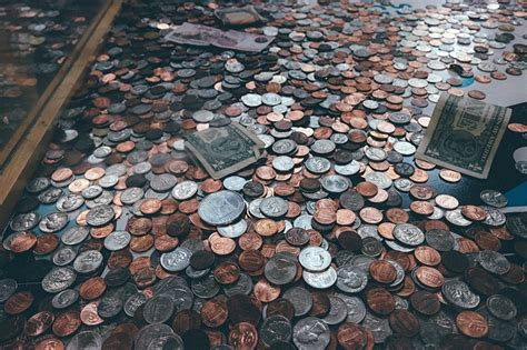 Coins And Paper Money On Floor Public Domain Free Photos