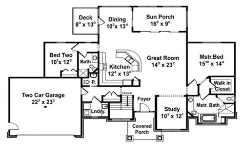 Single Story Open Floor Plans Open Concept Floor Plans