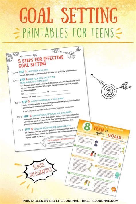 teens set effective goals tips templates