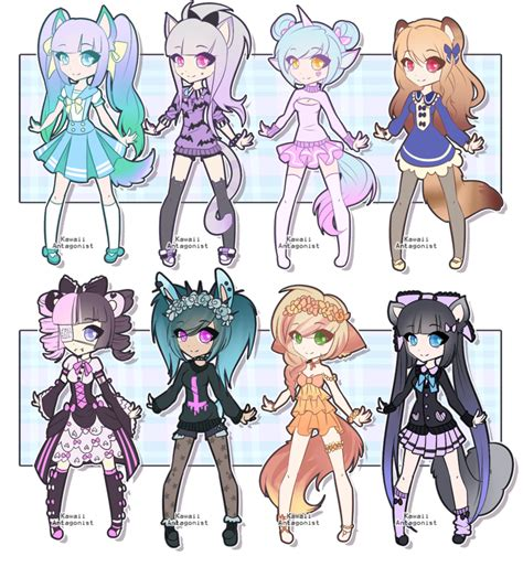 Base test adopts - closed by kawaii-antagonist on DeviantArt