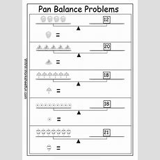 Pan Balance Problems  10 Worksheets  Algebraic Reasoning  Printable Worksheets Algebra
