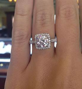 the square halo engagement ring future pinterest for With big square wedding rings