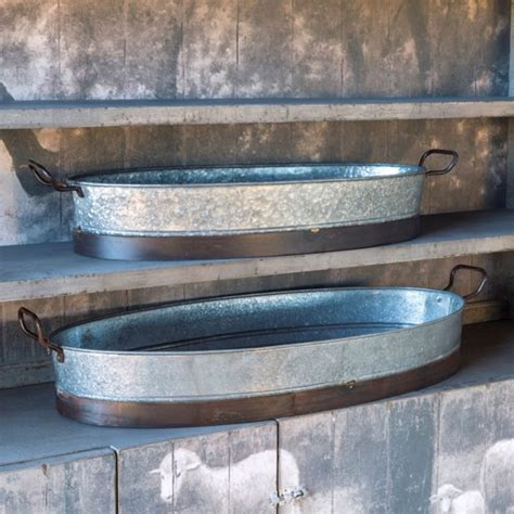 estate galvanized planters iron accents