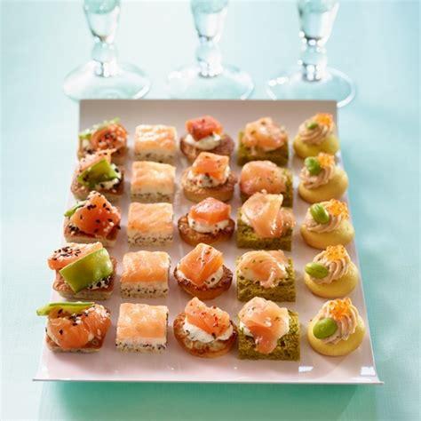 canape au saumon canapés cocktail saumon prêt à recevoir