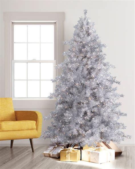 tinkerbell silver christmas trees  treetopia