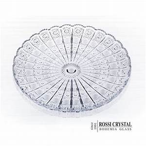 Fine cut plate round, traditional cut PK - Rossi Crystal