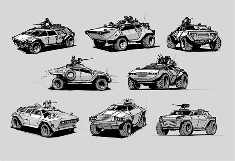 concept armored vehicle light armored vehicles sketches by alex ichim on