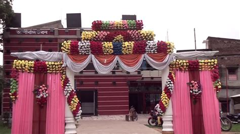 marriage wedding flowers stage decoration  full hd