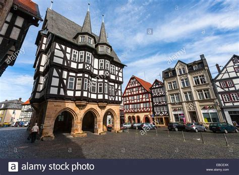 The Picturesque City Hall In Alsfeld On The German Fairy