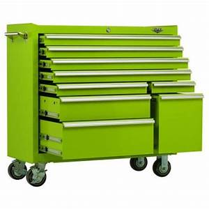 Viper Tool Storage 41 in 9 Drawer Cabinet in Lime Green