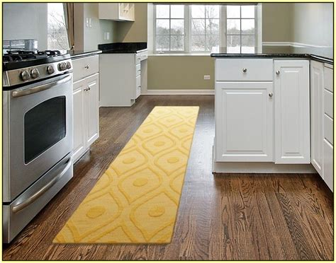 rug for kitchen sink area yellow kitchen runner rug in modern kitchen kitchen