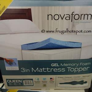 costco sale novaform  gel memory foam mattress topper
