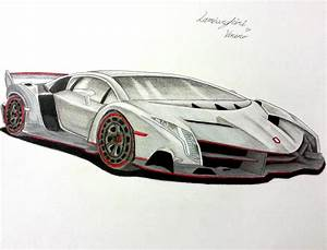 lamborghini veneno drawing 2017 - ototrends.net
