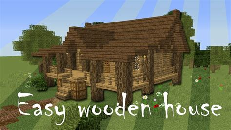 minecraft easy wooden house tutorial youtube