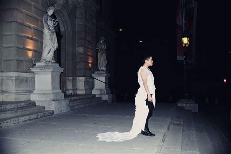 robe en papier par kirsten c m 233 tiers de la mode