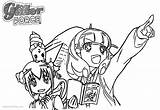 Glitter Coloring Force Precure Printable Bettercoloring sketch template
