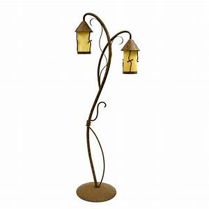 shop creative creations 66 in rustic wrought iron multi With lowes rustic floor lamp