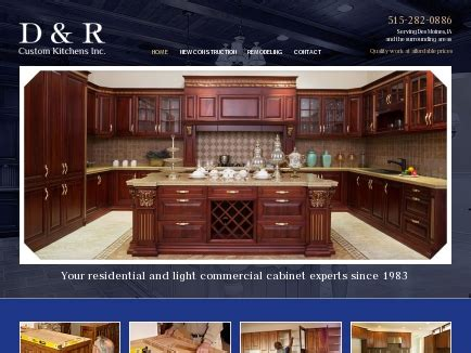 custom kitchens  cabinets des moines ia
