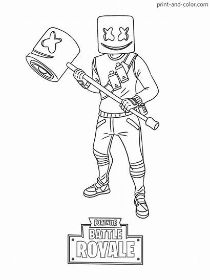 Fortnite Coloring Pages Marshmello Printable Blogx Info