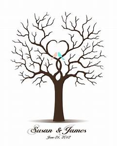 25 best ideas about wedding fingerprint tree on pinterest With thumbprint family tree template