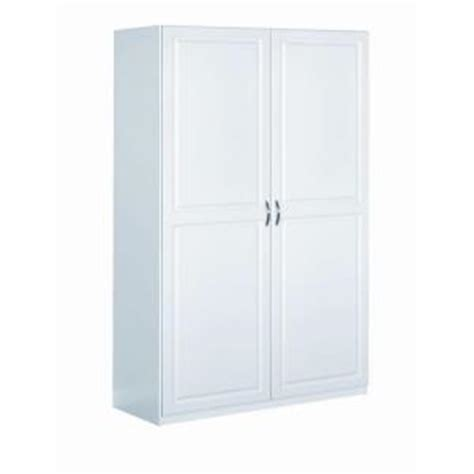 home depot white storage cabinets closetmaid dimensions 48 in cabinet in white 13000 the