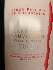 food survey baron philippe de rothschild valle central cabernet