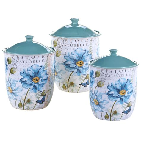 canisters sets for the kitchen certified international tuileries garden 3 canister