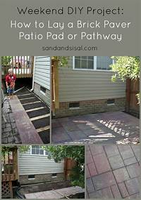 how to lay brick patio How to Lay a Brick Paver Patio or Path - Sand and Sisal