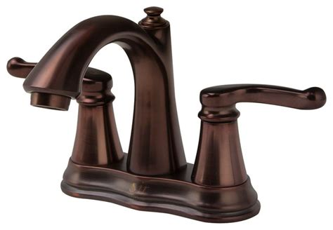 Mr Direct Double Handle Kitchen Faucet, Oil Rubbed