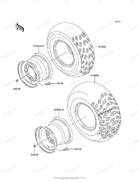 Kawasaki Atv Oem Parts Diagram For Wheels Tires