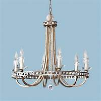 candice olson lighting Candice Olson Aristocrat 6 x 60-Watt Light Chandelier, Soft Gold with Crystal Prisms and Faux ...