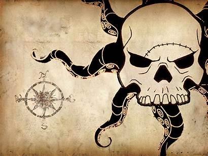 Kraken Map Pirate Wallpapers Desktop Pirates Caribbean