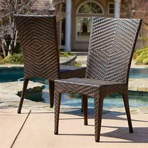 Better, Homes, U0026, Gardens, Outdoor, Wicker, Chairs, Brown, Set, Of, 2, -, Walmart, Com