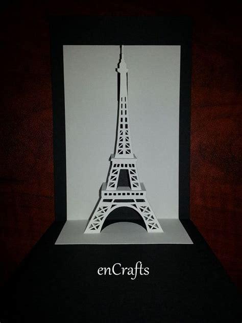 eiffel tower origamic architecture pop up card cards places pinterest sobres de