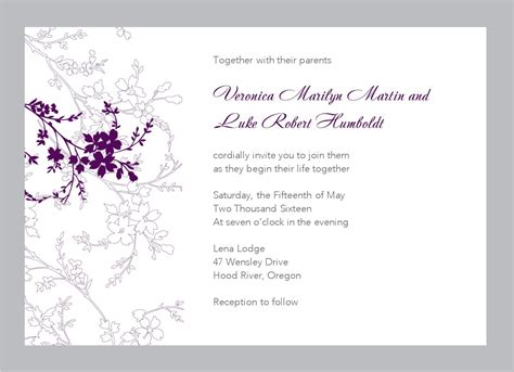 invitation template free free wedding invitation templates for word marina gallery