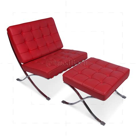 mies van der rohe ottoman ludwig mies van der rohe barcelona style ottoman red leather